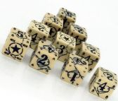 Beige & Black Battle D6 USA Dice Set